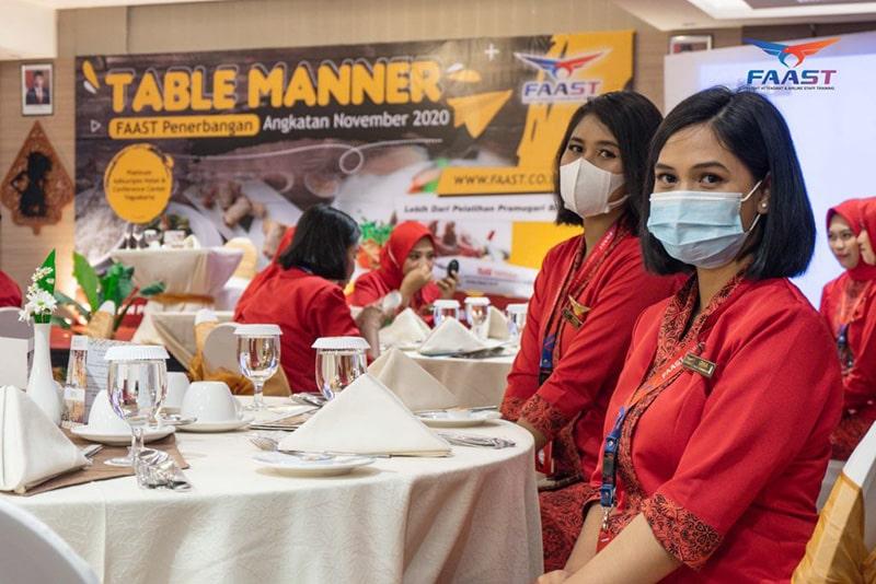 Table Manner Siswa Siswi FAAST Penerbangan November 2020